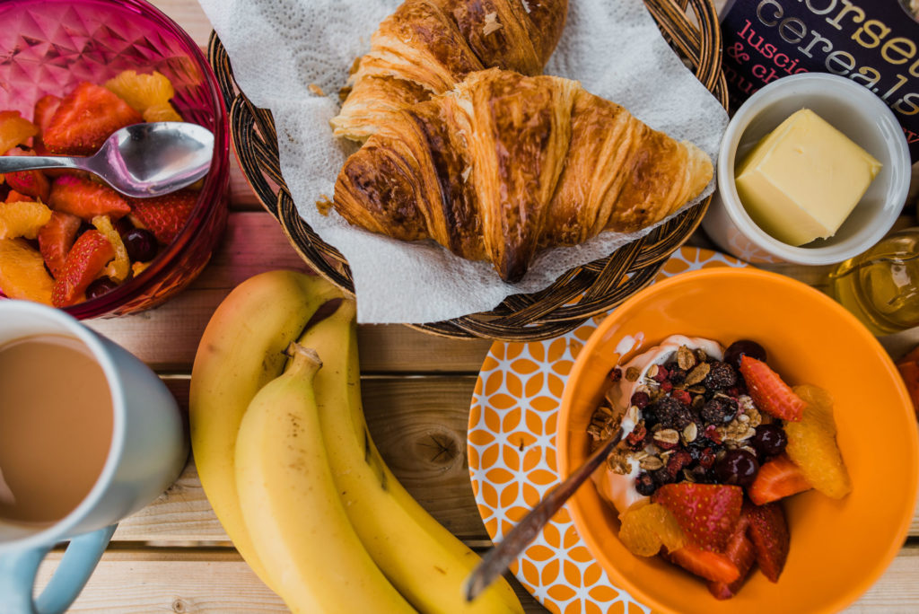Pastries, fruit and yogurt for breakfast?