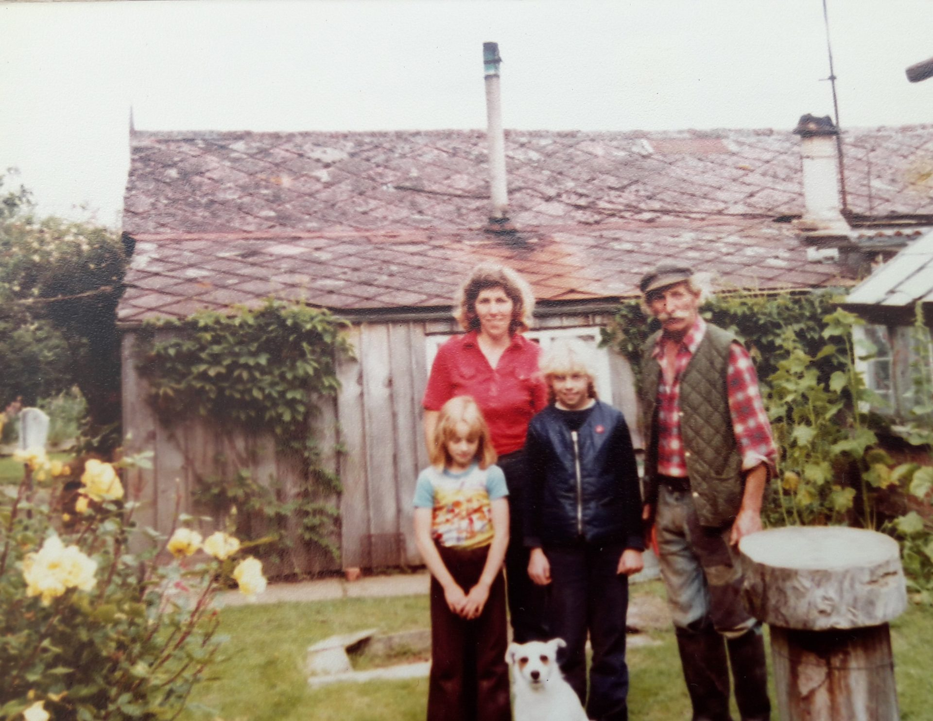 Owner Jane Corner and childhood family