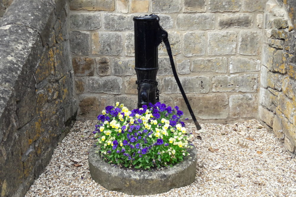 Old water pump feature in Chipping Campden