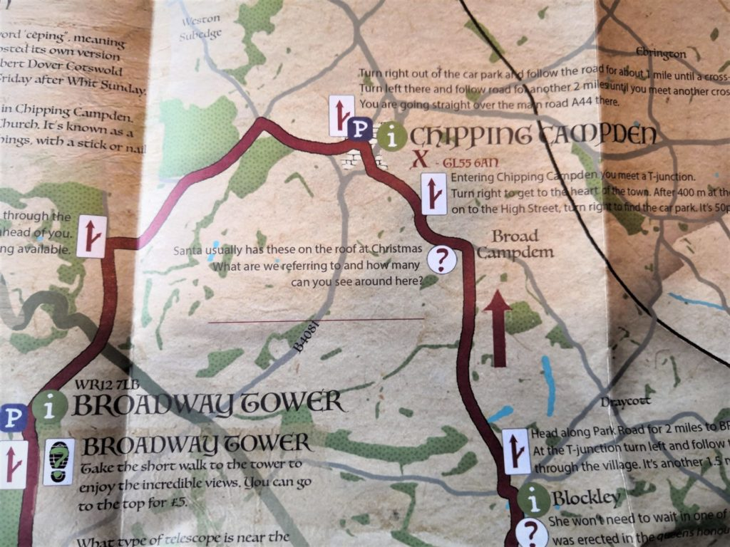 Cotswold Discovery Trail Map of the area