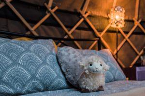 Campden Yurts bedside lights