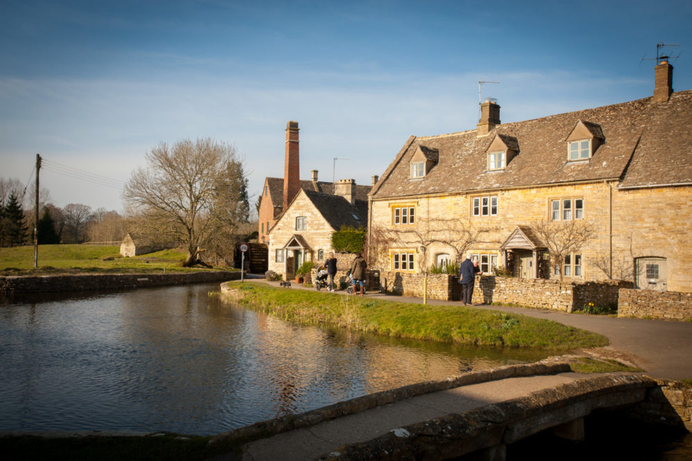 The Mill and cottages at Lower Slaughter, Cotswolds