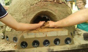 Cob oven building