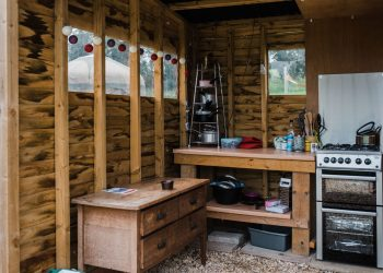The cook hut at Campden Yurts